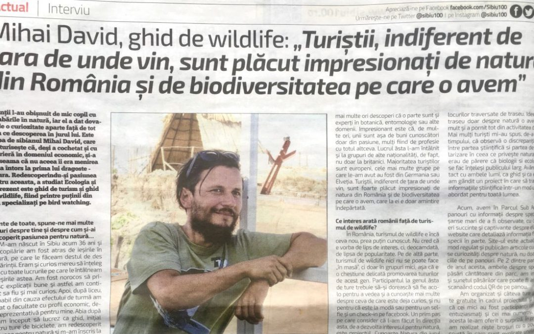 Being a Nature Guide – A short interview in the local press.